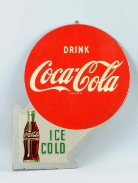 1950s Coca-cola Ice Cold Flange Sign.