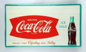 1960s Coca-cola Tin Sign.