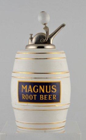 Magnus Root Beer Syrup Dispenser.
