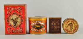 Lot Of Early Advertising Tins.