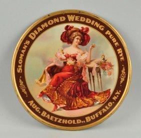 Diamond Wedding Rye Self-framed Tin Litho Sign.
