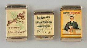 Lot Of 3: Cigar Match Safes.