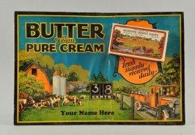 Creamery Butter Easel Back Mechanical Sign.