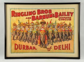 Ringling Bros. Barnum Bailey Advertising Poster.