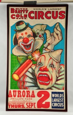 Clyde Beatty & Cole Brothers Circus Poster.