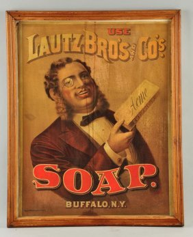 Lautz Bro's & Co's Soap Paper Sign.