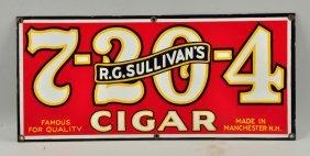 R.g. Sullivan's Porcelain Cigar Sign.