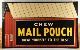 Mail Pouch Large Tobacco Sign.
