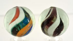Lot Of 2: Naked Solid Core Swirls.