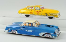 Lot Of 2: American & German Tin Litho Cars.