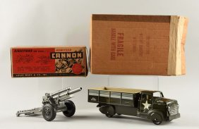 Marx Tin Litho Us Army Transport Truck #1900.
