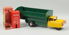 Marx Coca-cola Truck With A Green Dump Body.
