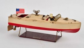 Lionel Tin Litho Clockwork Motor Boat.
