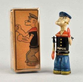 Chein Tin Litho Wind-up Popeye Shadow Boxer Toy.