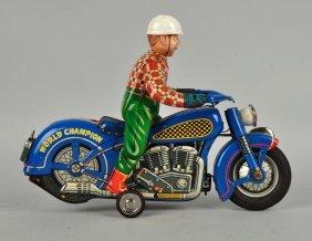 Scarce Japanese Tin World Champion Motorcyclist.