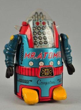Japanese Tin Litho Battery Operated Mr Atomic.