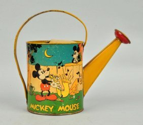Walt Disney Tin Litho Mickey Mouse Watering Can.