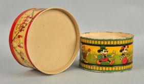 Lot Of 2: Early Tin Litho Drums.