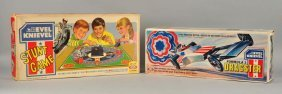 Lot Of 2: Ideal Evel Knievel Toys.