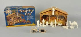 Marx Nativity Set Complete In Box.