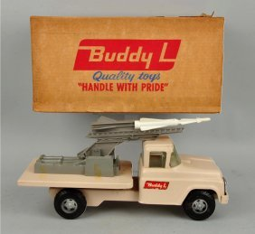 Pressed Steel Buddy-l Mobile Missile Launcher.