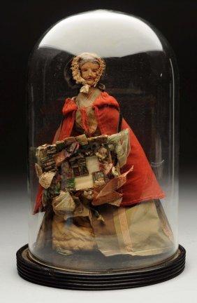 English Wax Pedlar Doll.
