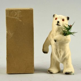 Mechanical Polar Bear Wind-up Toy In Original Box.