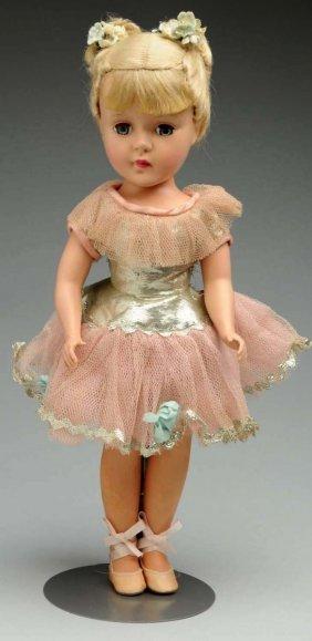 Hard Plastic Ballerina Doll.