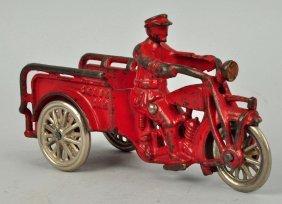 Cast Iron Crash Car Motorcycle.