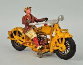 Cast Iron Motorcycle Civillian Driver.