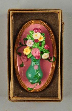 Cast Iron Mixed Flowers In Vase Doorknocker.