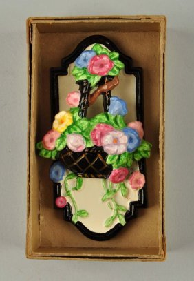 Cast Iron Flowers In Hanging Basket Doorknocker.