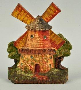 Cast Iron Windmill Doorstop.