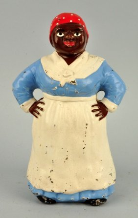 Cast Iron Southern Mammy W/ Hands On Hips Doorstop