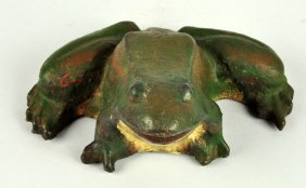 Cast Iron Large Frog Doorstop.