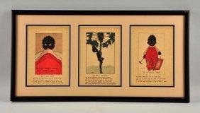 Black Americana Framed Comic Book Art.