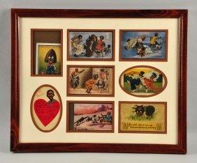 Black Americana Postcards Trained Under Glass.