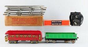 Lot Of 6: Lionel Trains & Tracks & Transformer.