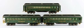 Lot Of 3: Lionel State Passenger Cars.