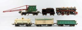 Lot Of 6: Lionel 390e Locomotive & Tender.