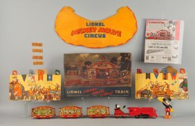 Lionel Disney Clockwork Mickey Mouse Circus Train.