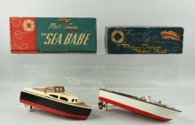 Lot Of 2: Sea Babe And Lang Craft Boats.