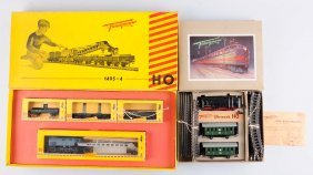 Lot Of 2: Fleischmann Ho Train Sets.