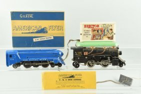 American Flyer Trains And Accessories.