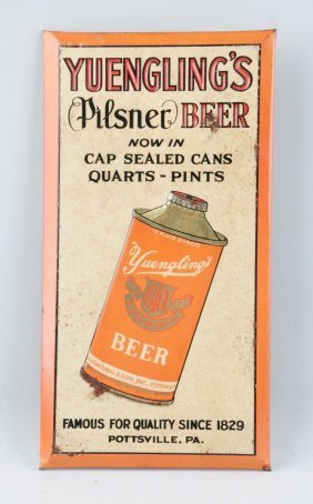 Yuengling Pilsner Beer Tin Advertising Sign.