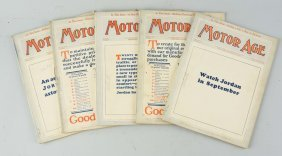 Lot Of 5: Motor Age Magazines Circa 1920's.