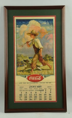 1937 Coca - Cola Advertising Calendar.