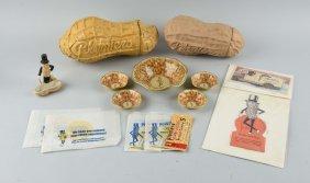 Lot Of 14 Mr. Peanut Memorabilia