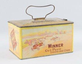 Winner Cut Plug Tobacco Tin.