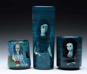 Lot Of 3: Pillin Vases.